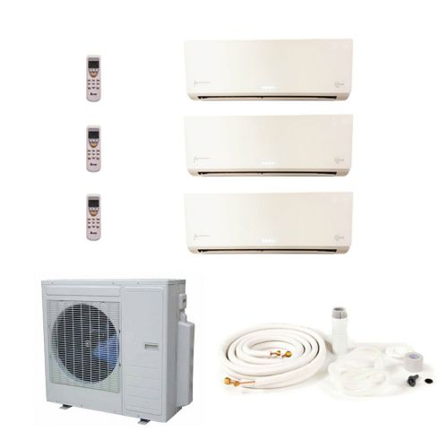 KMS Air Conditioning KMS-3MIO/X1C-M​​​​​​​ 3 x 3.5kW Wall Mounted Kit 9Kw/30000Btu A 240V~50Hz